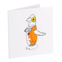 Orange tin penguin