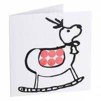 Red mirror card reindeer